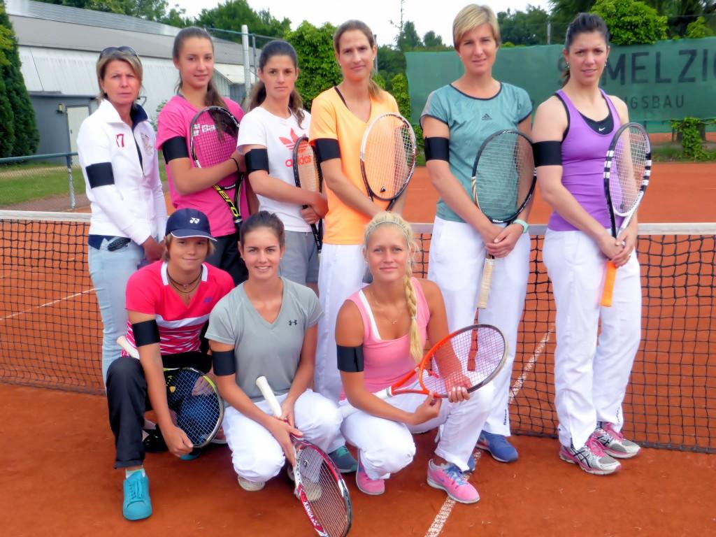 Die erste Damenmannschaft des THC im VfL in Lintorf...